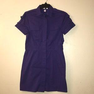 Kenneth Cole,purple shirt dress.size 8
